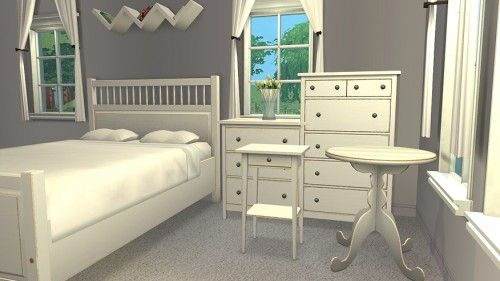 Hemnes Bedroom Set   White Sims 2, Hemnes, Bedroom Sets, Ikea, Bed