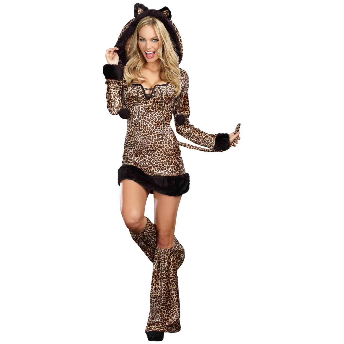 Girls cheetah sexy the