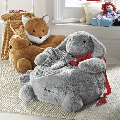personalized plush animal chair with blanket $99.99