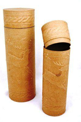 Papier Mache Designs Paper Shapes Xmas wine bottle box PACK OF 8