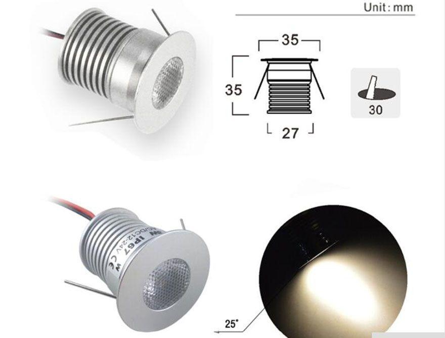 Cree Led Recessed 3w Mini Under Cabinet Light Dc3v Dc12v