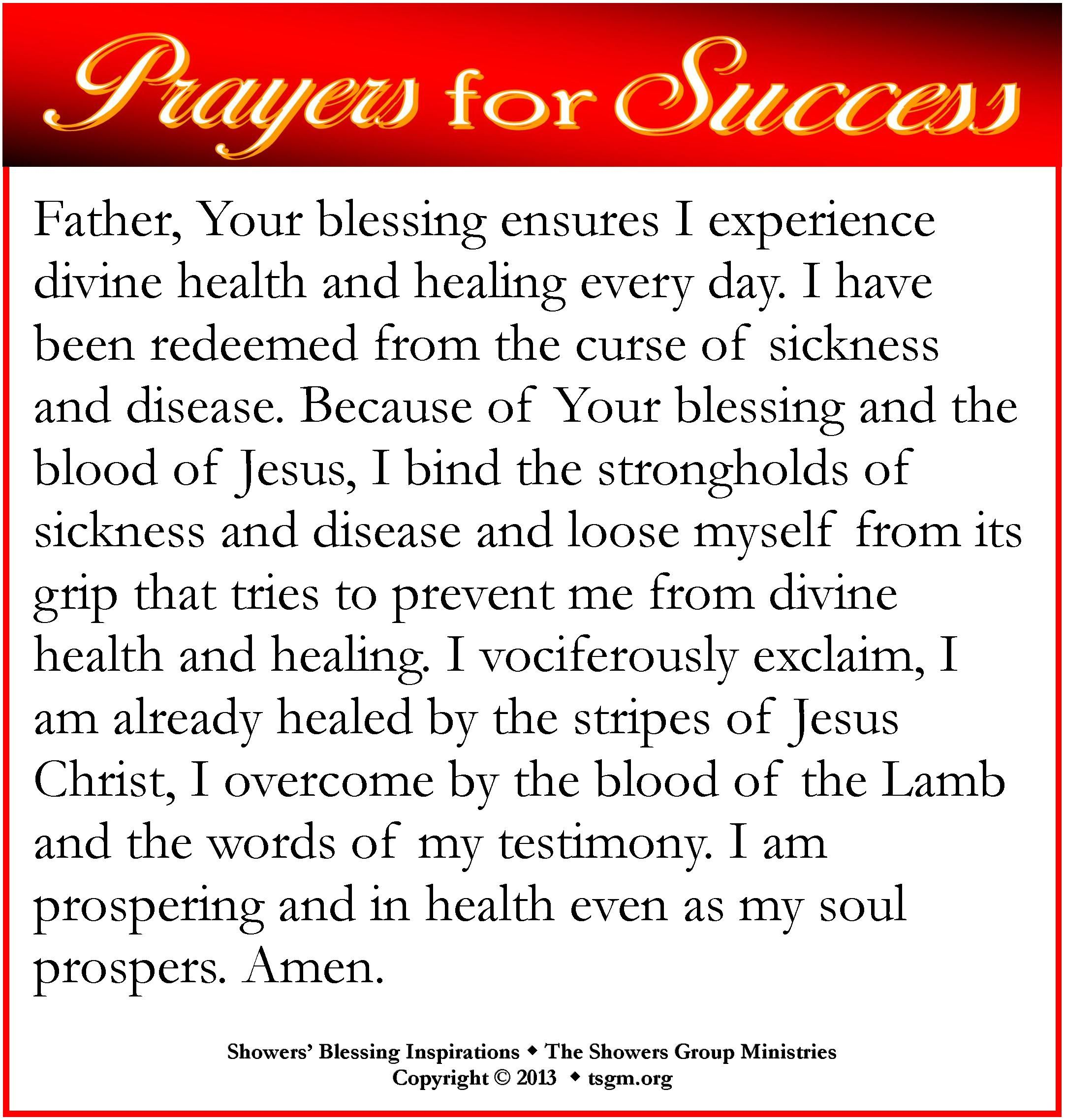Father, Your Blessing Ensures I Experience Divine Health