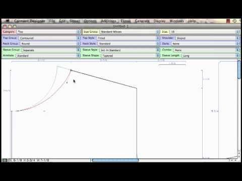 Garment Designer Software Pattern Smarts 1 Knitting Machine Tutorial Pattern Making Tutorial Software Design