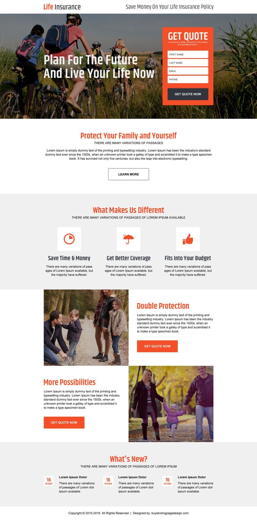 Life Insurance For Family And Yourself Lead Gen High Converting