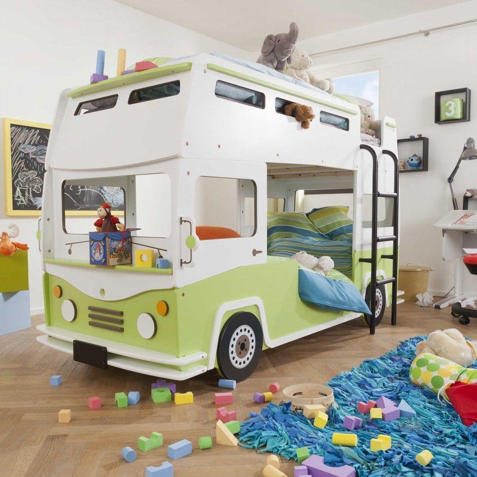 Kinderbett junge bus  Etagenbett Bussy 90 x 200 cm - Fantastische Kinderwelten ...