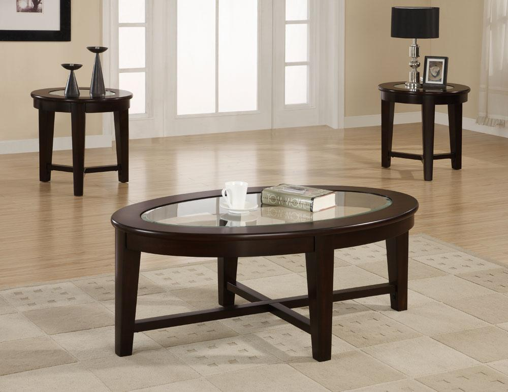 Best Coaster Cs511 3Pcs Simple Glass Top Coffee Table Set 400 x 300