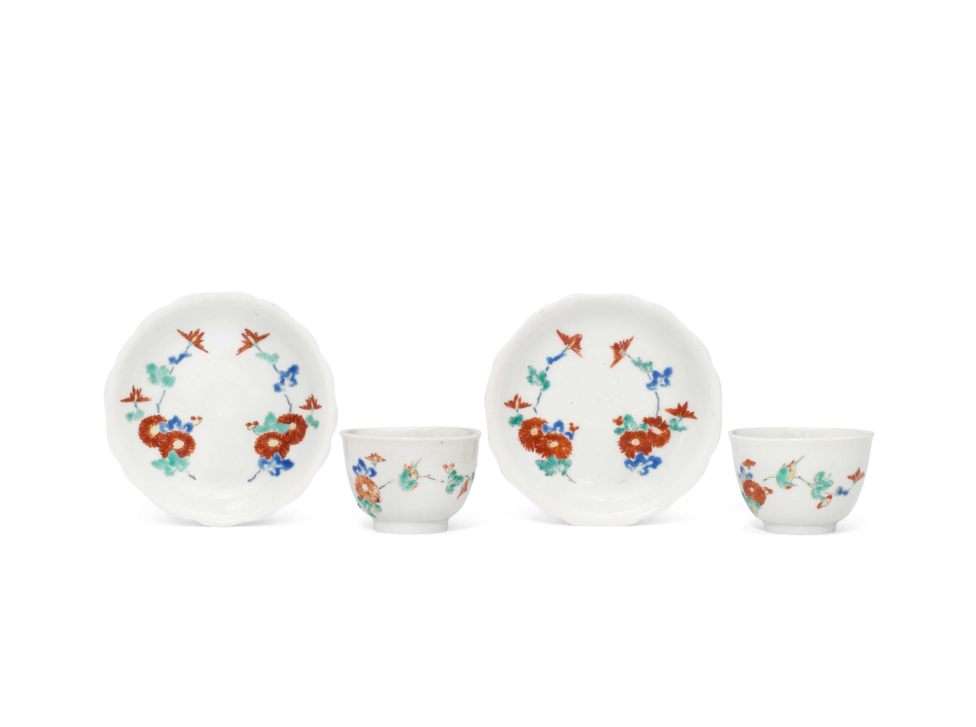 A Pair of Small Kakiemon Tea Bowls and Saucers Christie's Japanese Art at the English Court