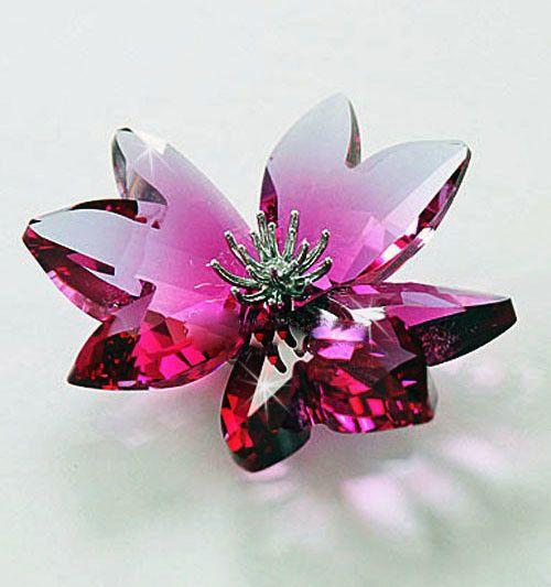 Swarovski Crystal Flower DILICIA FUCHSIA RAIN #956806 ...