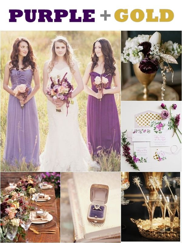 Image Result For Shades Of Purple Wedding Gold Wedding Colors