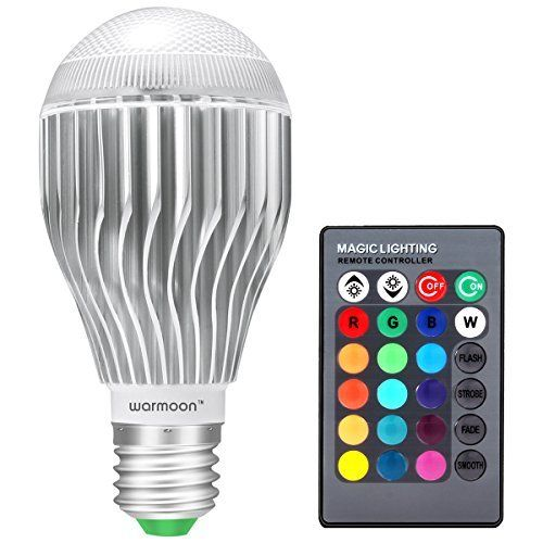 Warmoon Changing Dimmable Remote Control Led Light Bulb Color Changing Light Bulb Dimmable Led Lights