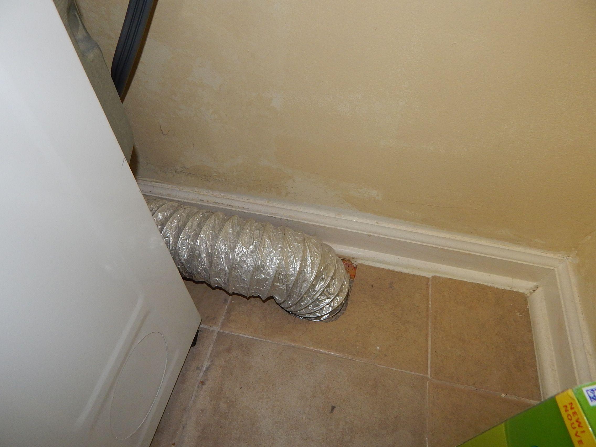 Flex Dryer Vent Through Floor Only Solid Metal Should Penetrate Floors Walls