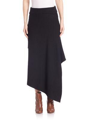 TIBI Merino Rib Sweater Origami Wrap Skirt. #tibi #cloth #skirt