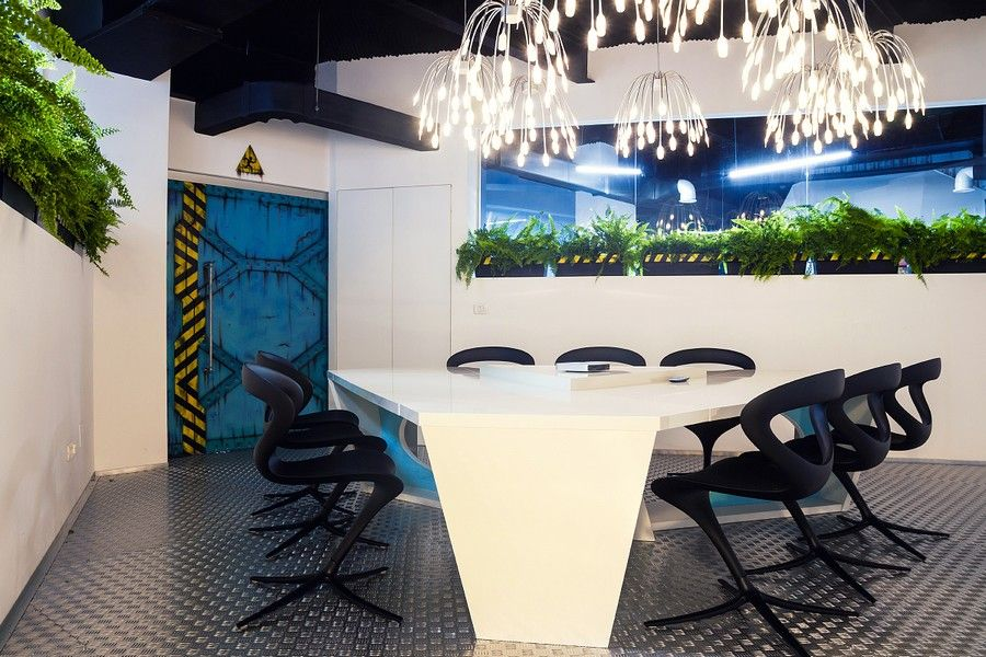 futuristic office design. wonderful design imaginative spaceshipthemed office with a touch of sustainability on futuristic design