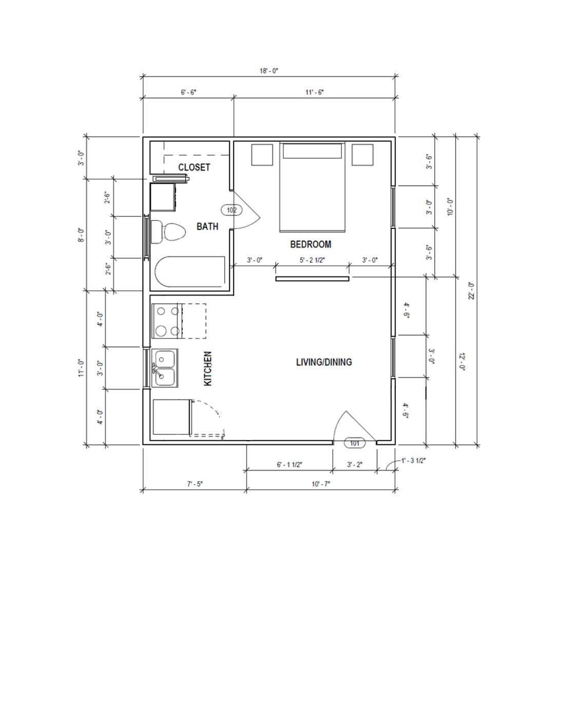 396 Sqft Garage Conversion Garage Floor Plans Garage Guest House Garage Conversion