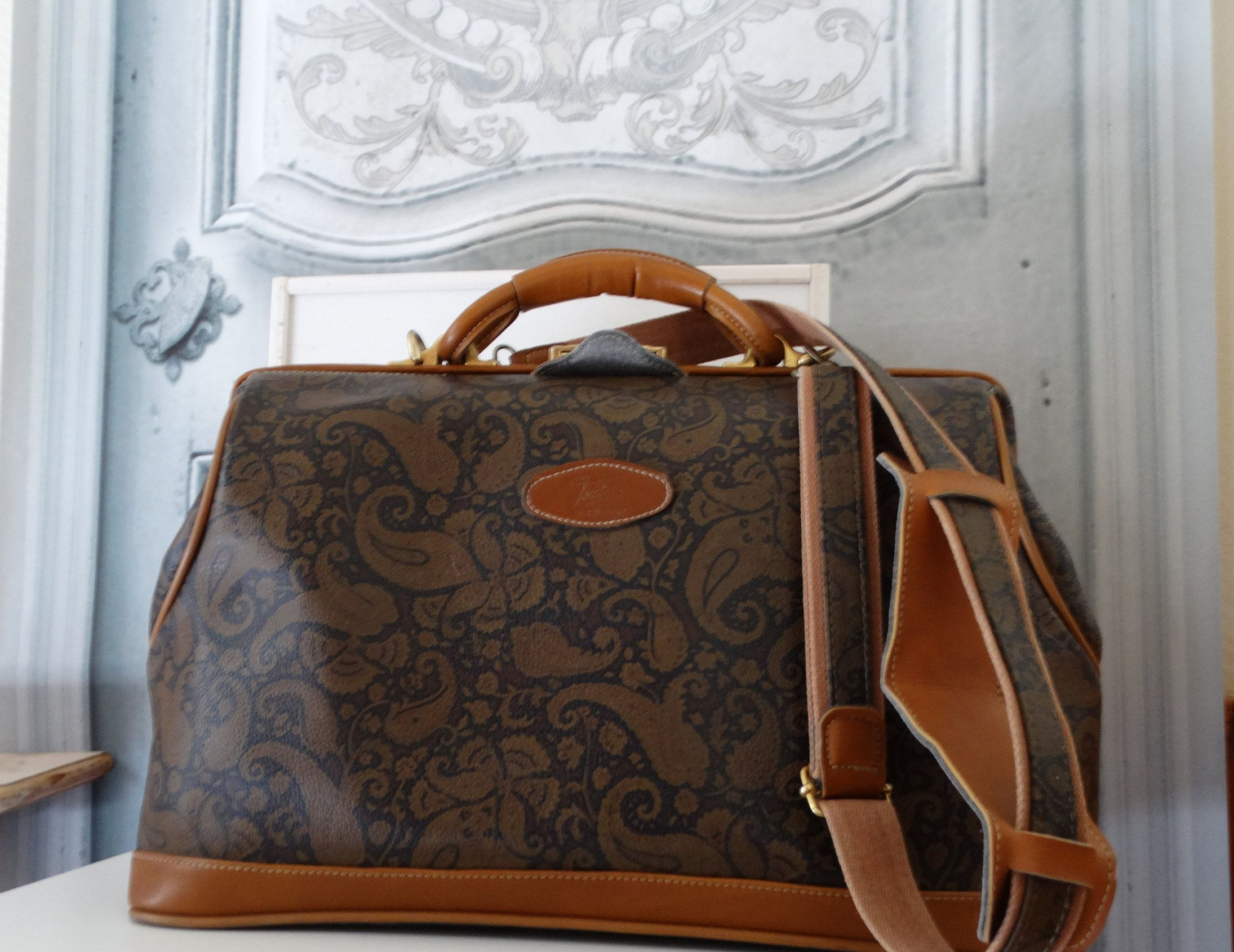 grande vente dessins attrayants se connecter Vintage XL large Texier Made cabin travel bag lady in France ...
