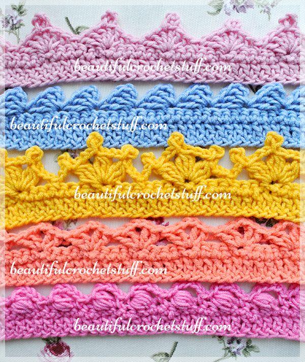 Crochet Borders – Top 5 Free Patterns | CROCHET PUNTILLAS ...