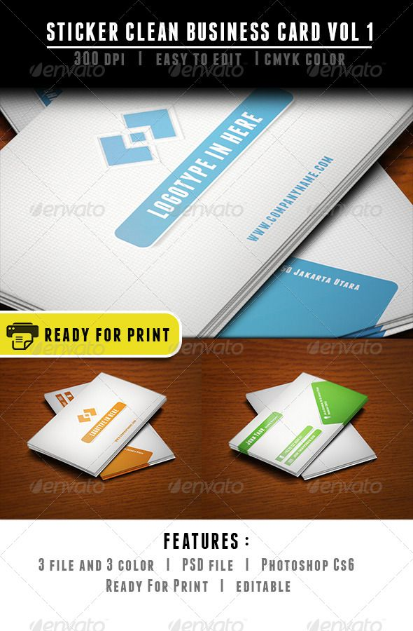 Sticker clean business card reheart Gallery