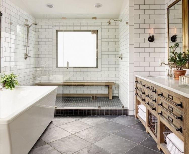 75 Interesting Rustic Bathroom Farmhouse Design Ideas Acidaliadecor Info Modern Farmhouse Bathroom Bathroom Farmhouse Style Bathroom Design Styles