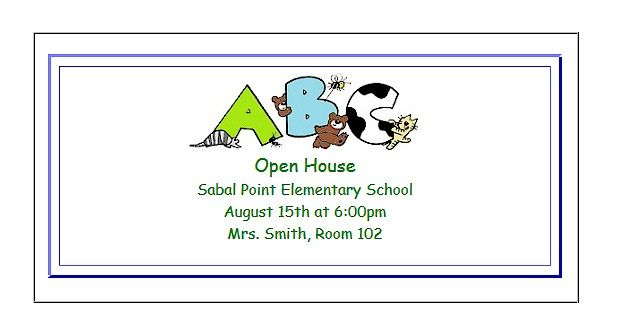printable open house invitations