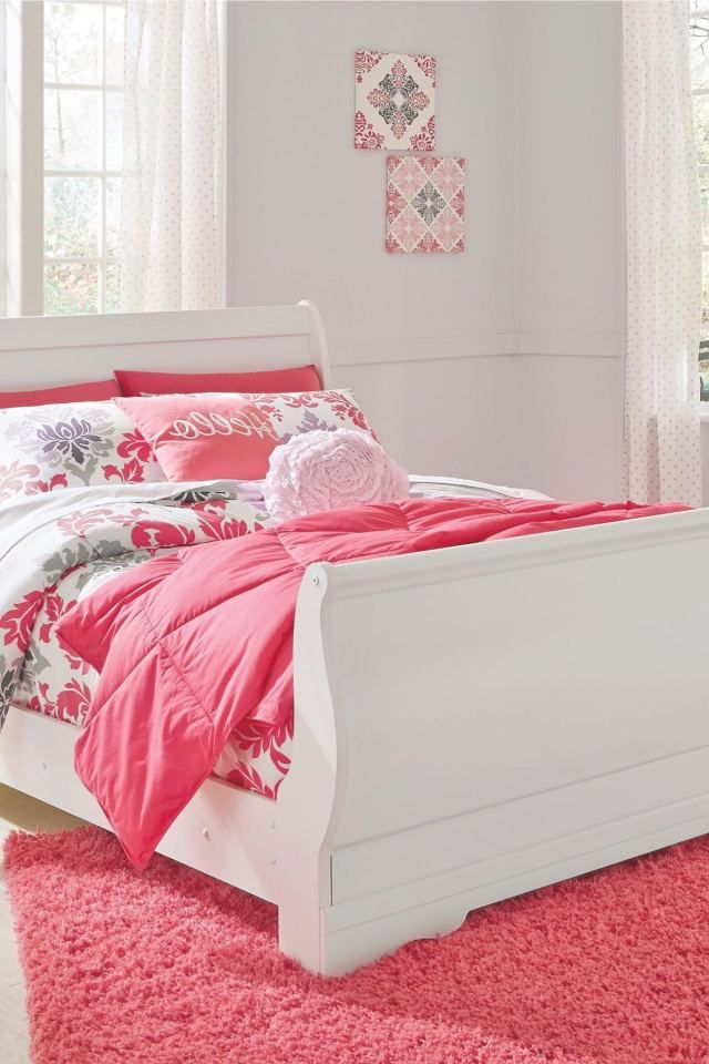Best Full Sleigh Bed Idea 11 Ashley Signature Design Anarasia 400 x 300
