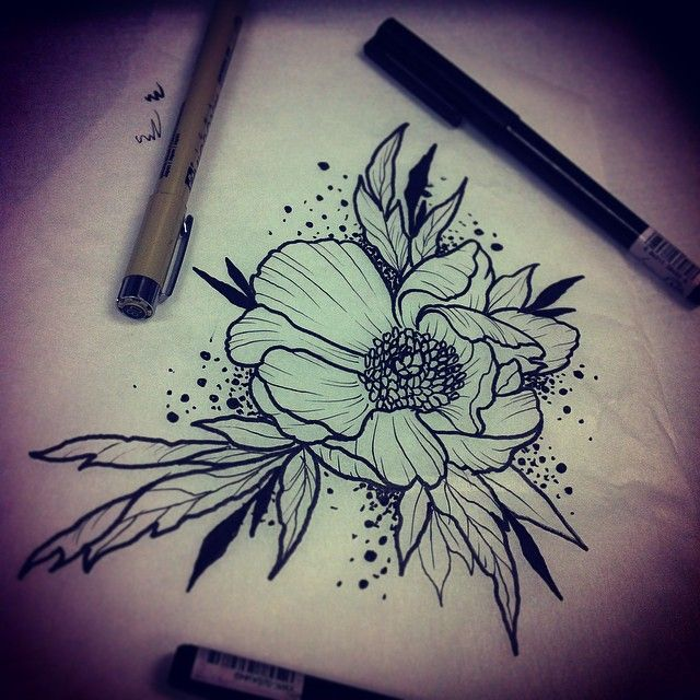 Image Result For Neo Traditional Flower Sketch Lily Tattoo Design Traditional Tattoo Design Traditional Rose Tattoos