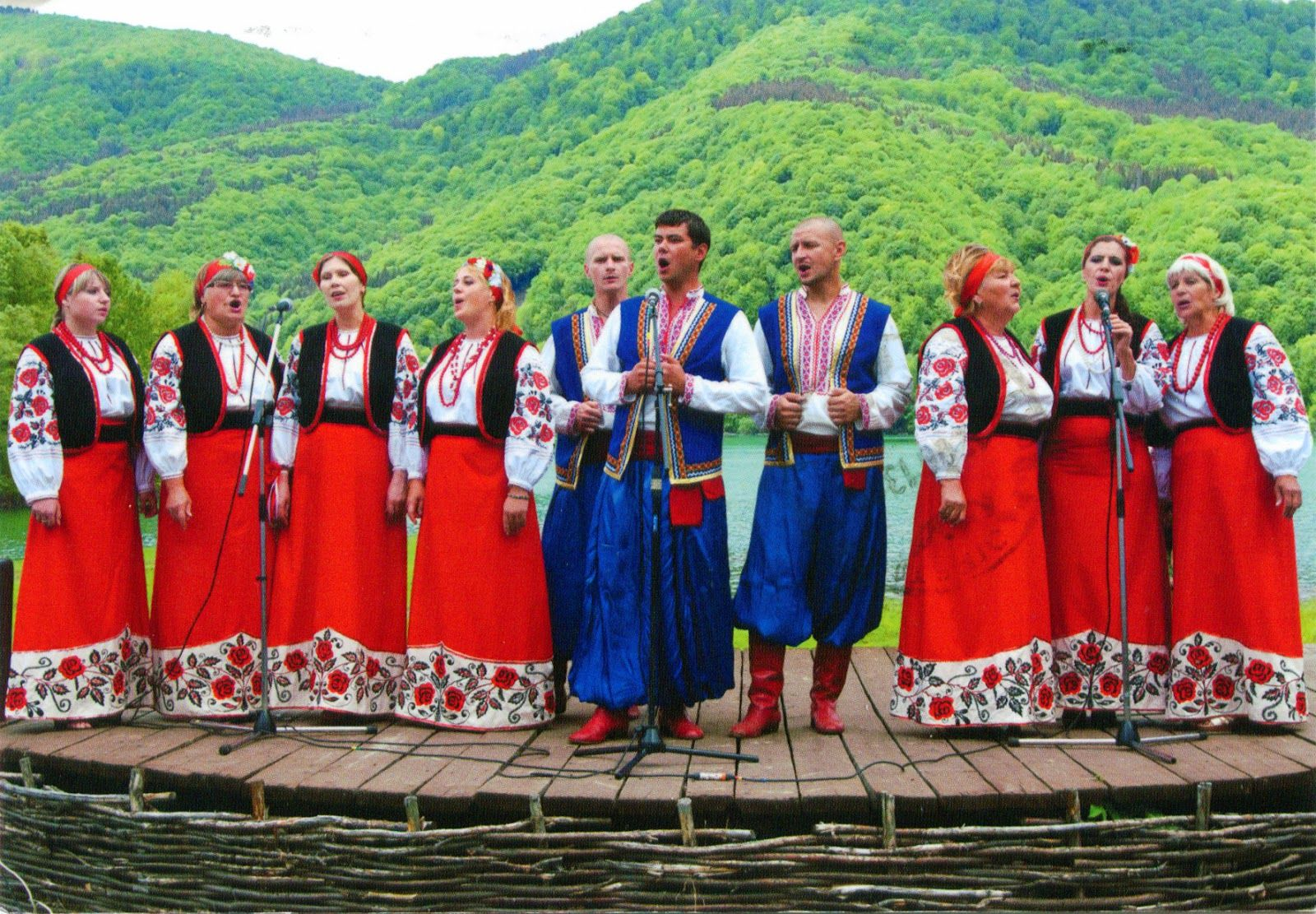 3 luxembourg traditional costume of men is blue smocks and dark trousers colourfully accented. Black Bedroom Furniture Sets. Home Design Ideas