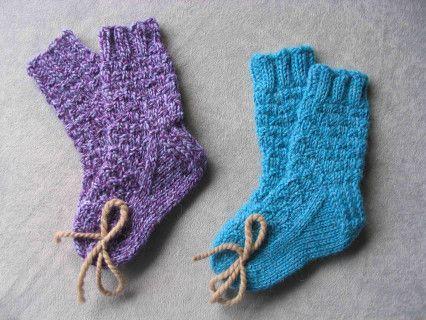 Free Knitting Pattern Children S Socks Booties Mini Basketweave
