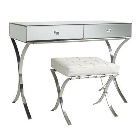 Sovana Mirrored Dressing Table & Stool Set (in Barcelona style ...