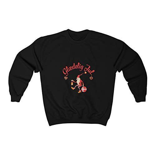 PrintYmotion Crewneck Sweatshirt - Glædelig Jul - A Merry Christmas Sweatshirt, Unisex Christmas Tee
