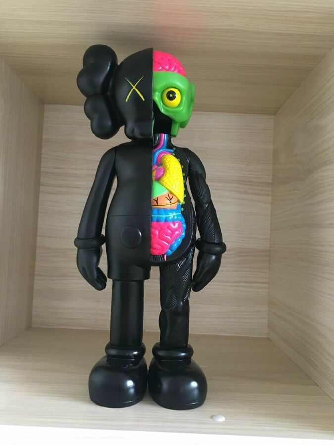"""2018 8/"""" BFF KAWS Half Dissected Companion Action Figures Toy"""