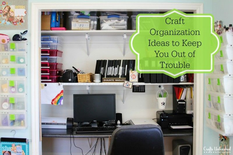 'Craft Organization Ideas to Keep You Out of Trouble...!' (via Crafts Unleashed: DIY Craft Ideas, Fun Crafts & More)