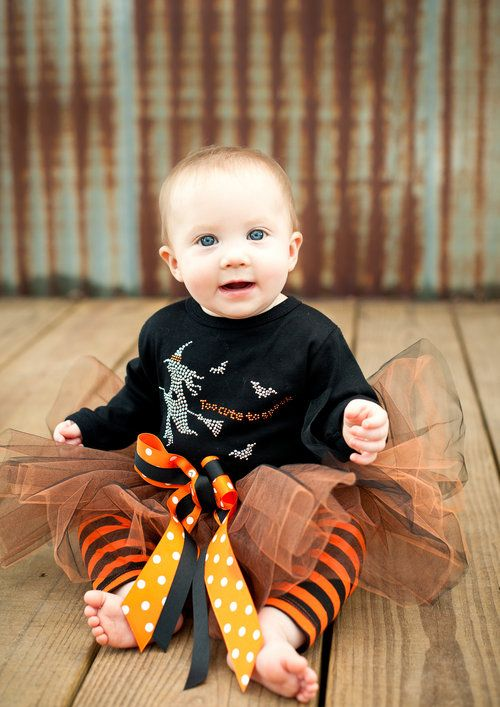 Too Cute To Spook-holloween, baby,outfit,girls,tutu,black, orange - halloween ideas girls