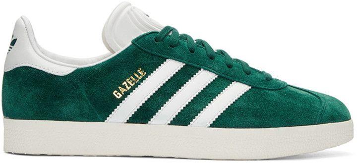 new concept 2fe60 1da43 adidas Originals Green Suede Gazelle OG Sneakers