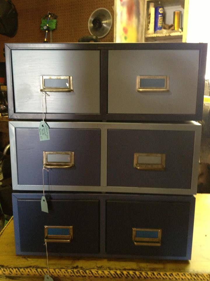 Repurposed Small File Cabinets Filing Cabinet Industrial Room Repurposed