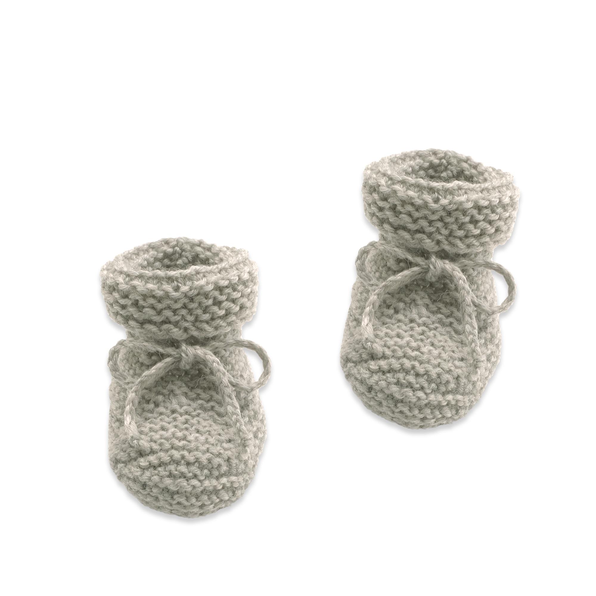 Chaussons Marcelline gris tricotés en mérinos pour bébé   Mode ... 55be553e25e