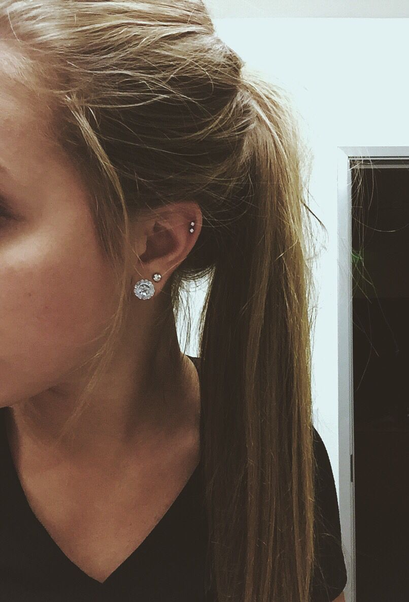 Double nose piercing ideas  Pin by Aylah Mendenhall on Cartilage  Pinterest  Piercings Ear