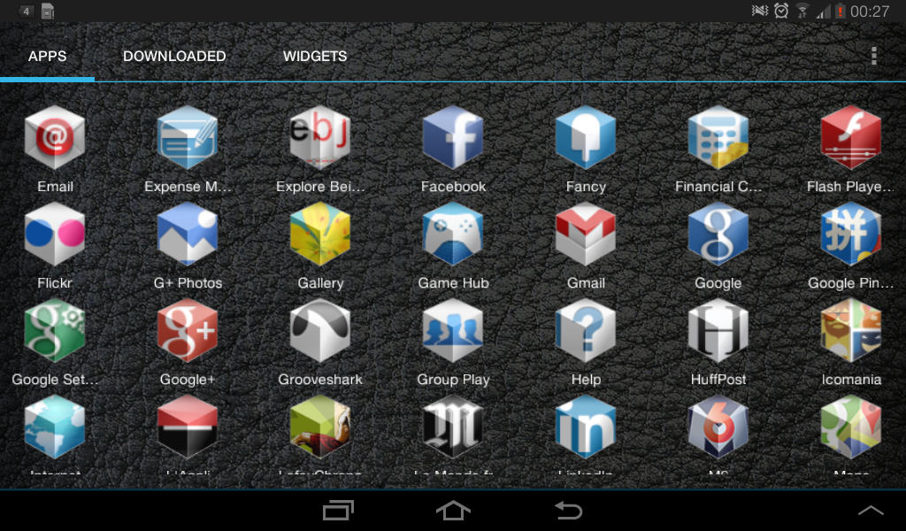 3D Icon Pack אייקונים לאנדרואיד בתלת מימד Gmail google
