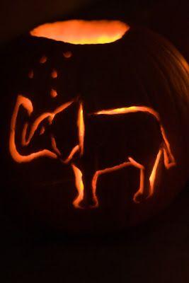 Elephant Pumpkin Carving Patterns
