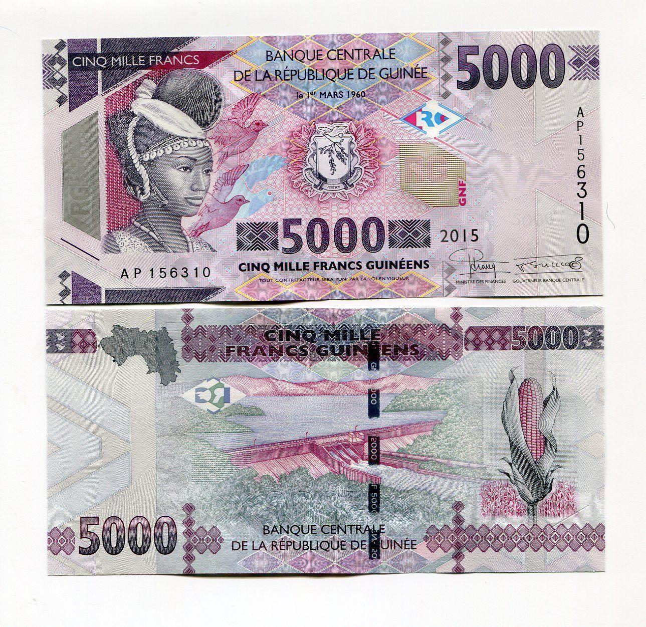 UNC 2015//2016 P-NEW Guinea 100 Francs