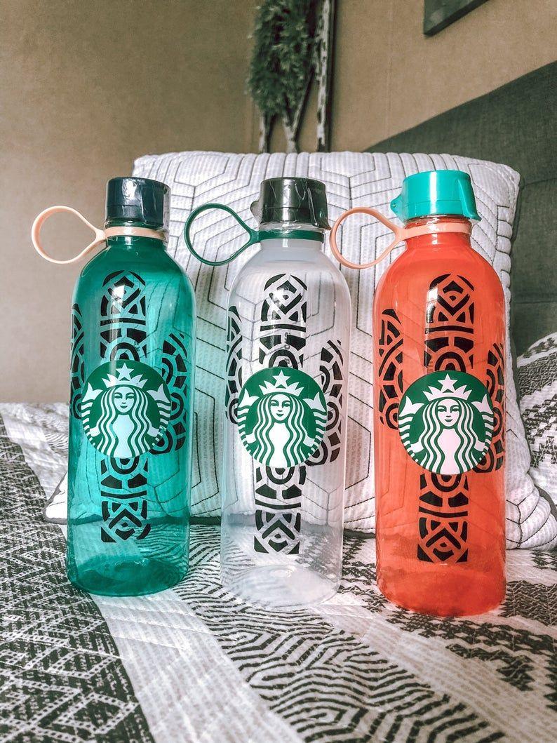 Cactus starbucks reusable water bottle cactus personalized