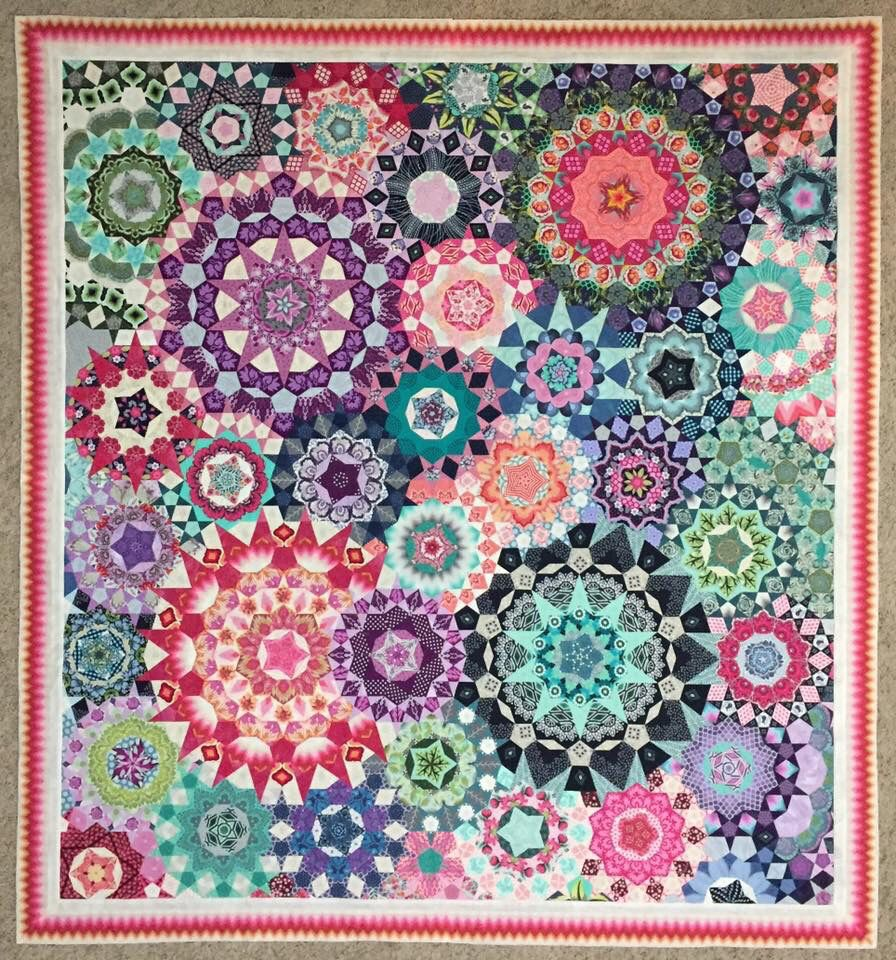 Image result for millefiori quilt pattern | Hexagons | Pinterest