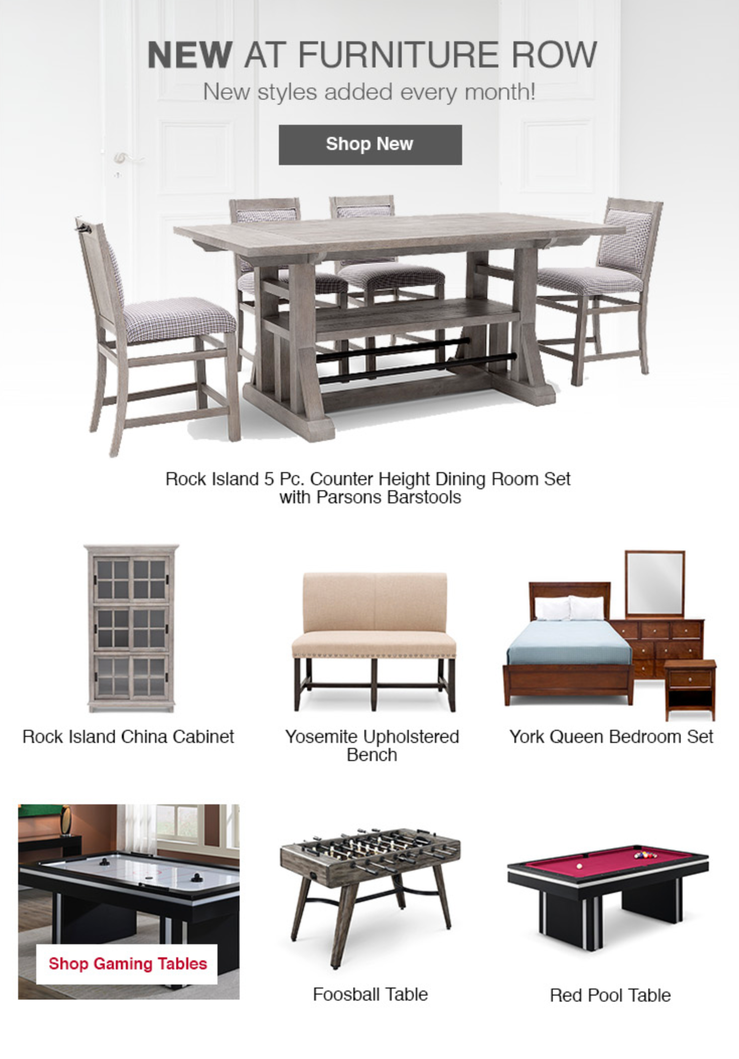 Shop New Styles For Living Dining And Bedroom This Month At