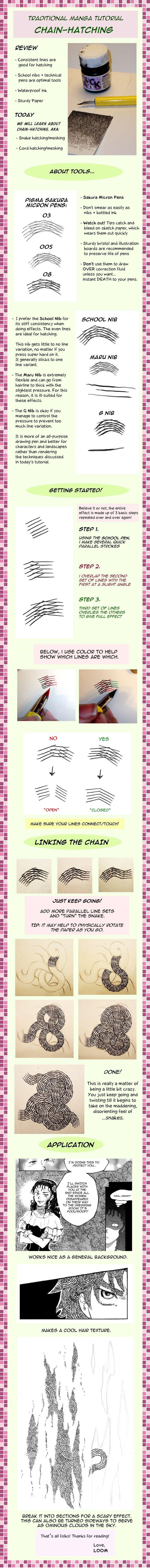 Manga Tutorial 2: Chain-Hatch by *LOOMinate