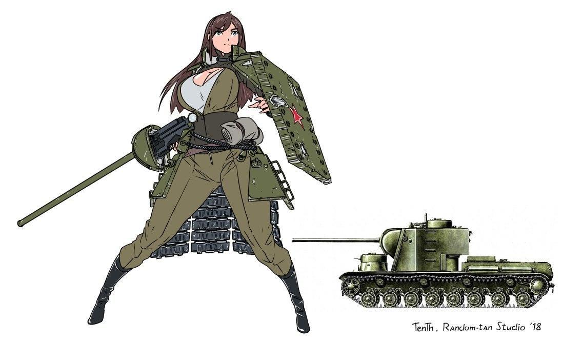 Kv 5 Gijinka Moe Anthropomorphism Anime Tank Anime Military Anime Artwork