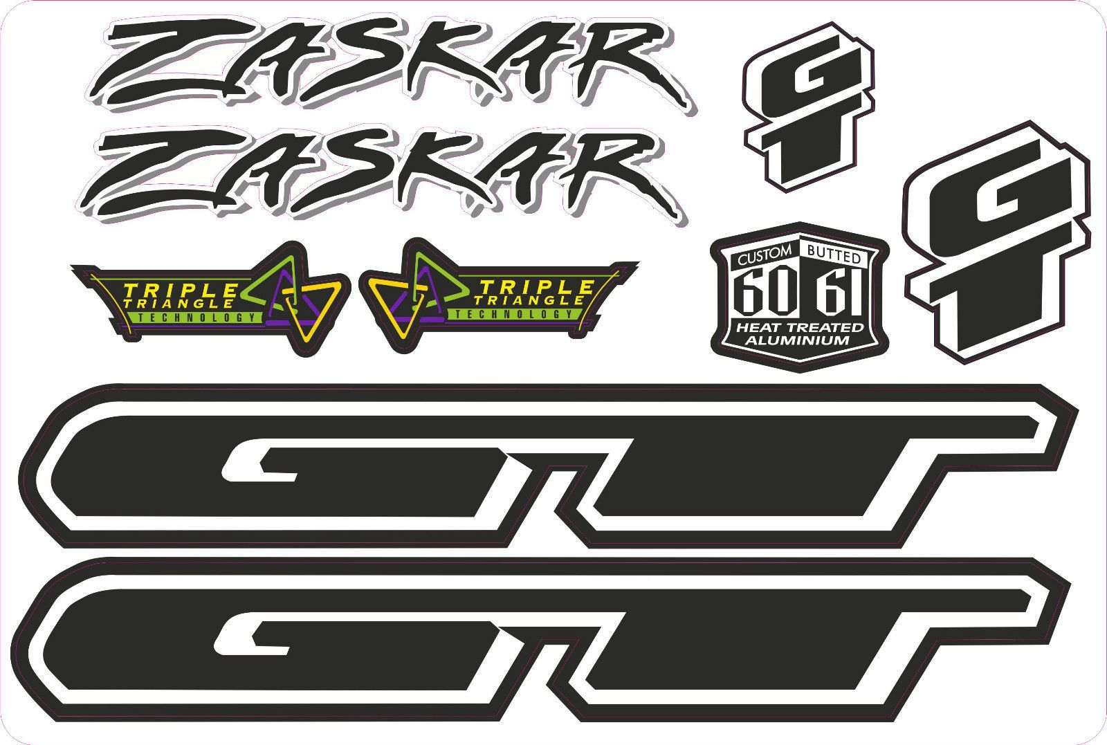 GT Bikes Decal Sticker White /& Black BMX  2 in Round