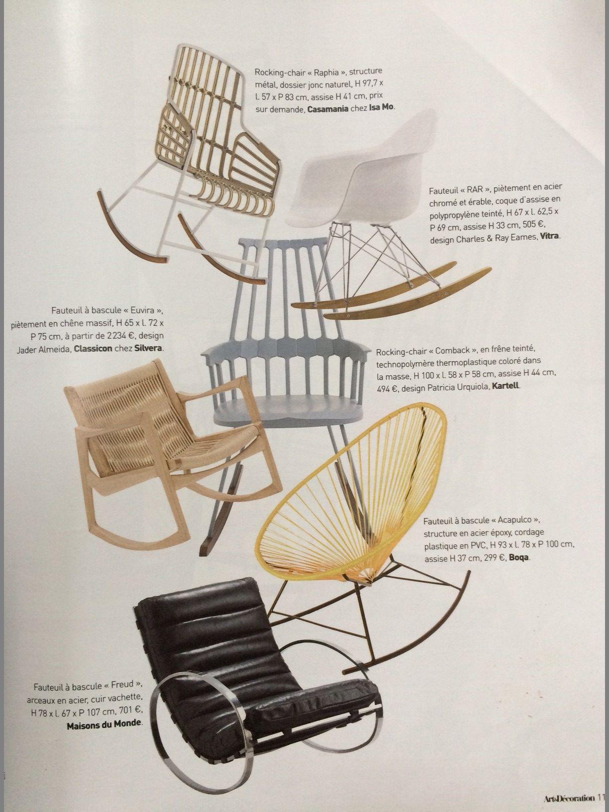 Boqa Fr boqa et le #fauteuil à #bascule rocking chair acapulco dans arts et