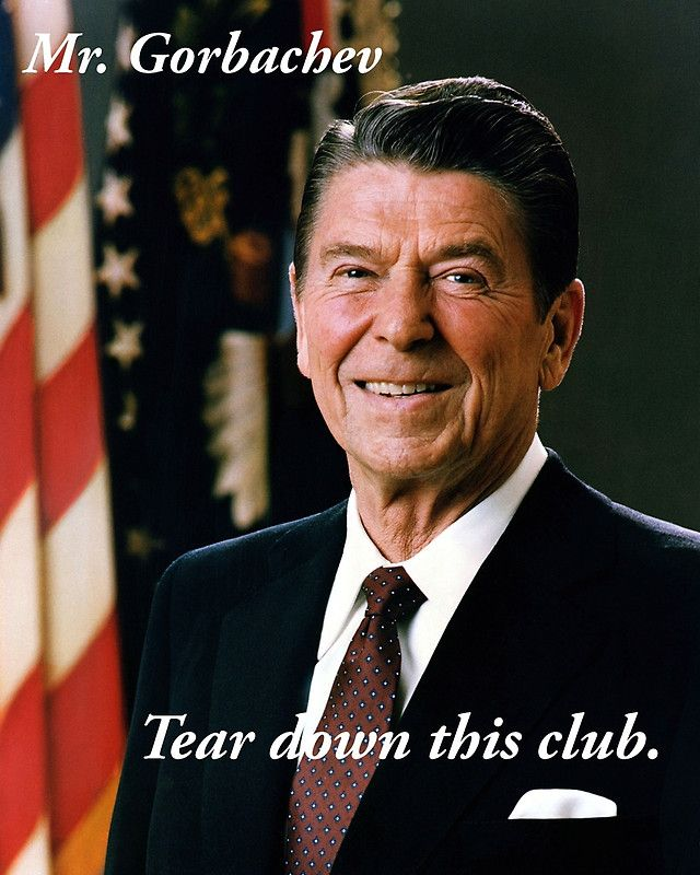 Mr. Gorbachev, tear down this club.  Items for sale including:  T-shirts, phone covers, stickers, etc.