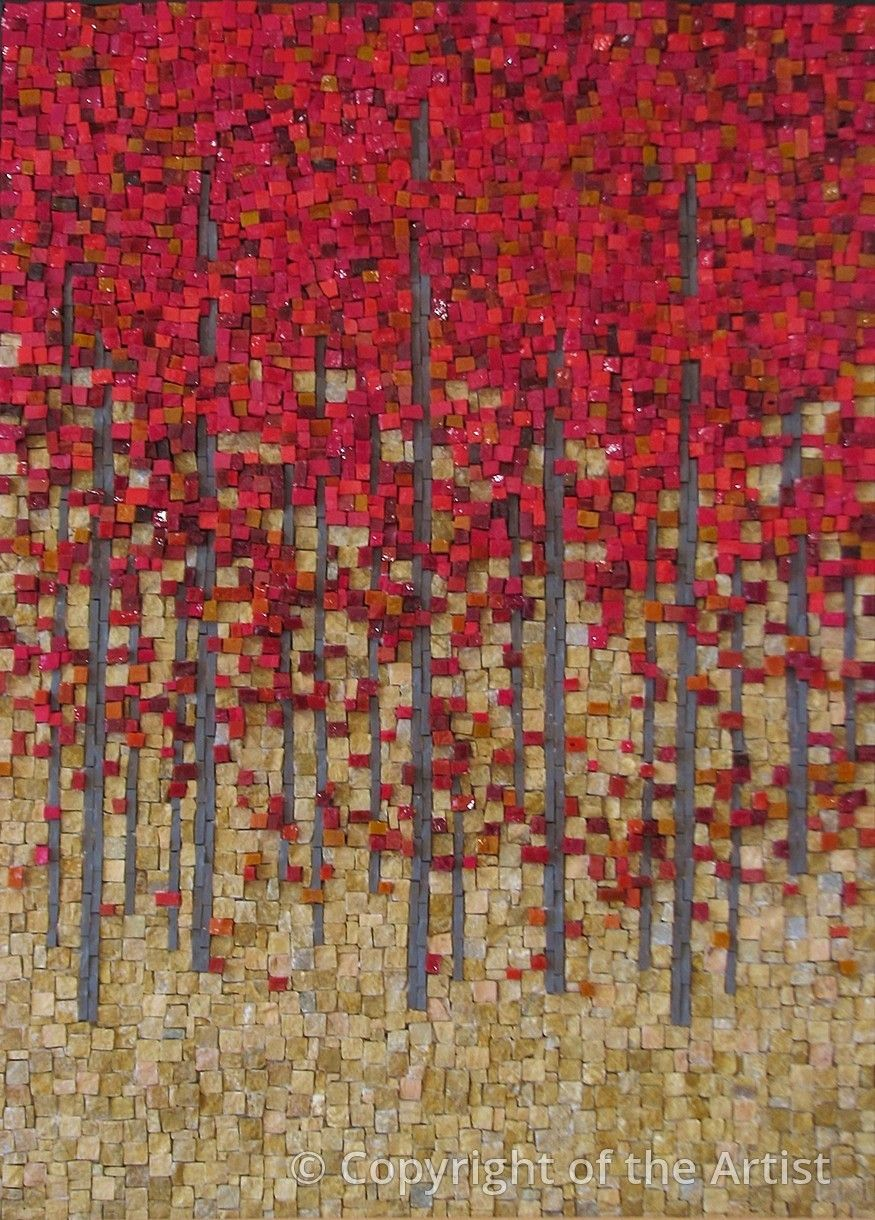 Red Maples Terri Borges Maplestone Contemporary