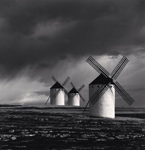 Michael KENNA :: Quixotes Giants, Study 1, Campo de Criptana, Spain, 1996
