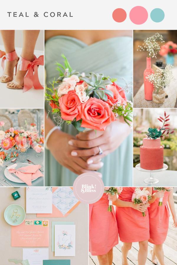 Top 10 Summer Wedding Color Palettes Blink Bliss In 2020 Coral Wedding Colors Summer Wedding Colors Wedding Color Palette Summer